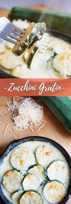 This low carb, cheesy zucchini gratin combines the nutty flavors of fontina and parmesan and is the perfect side dish to add to your weekly dinners!