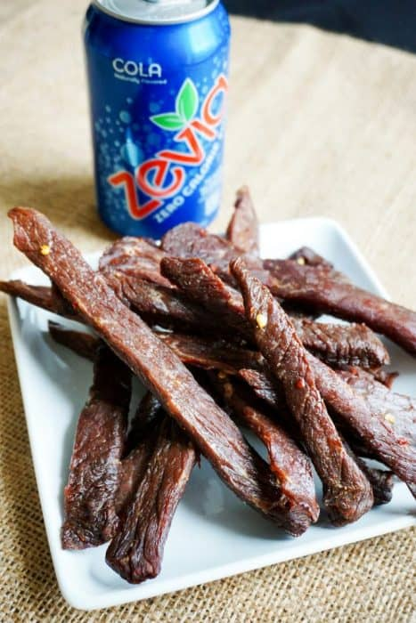 We used Zevia Cola to make our deliciously easy Low Carb Beef Jerky great for on the go snacking and a perfect snack for a keto diet!!
