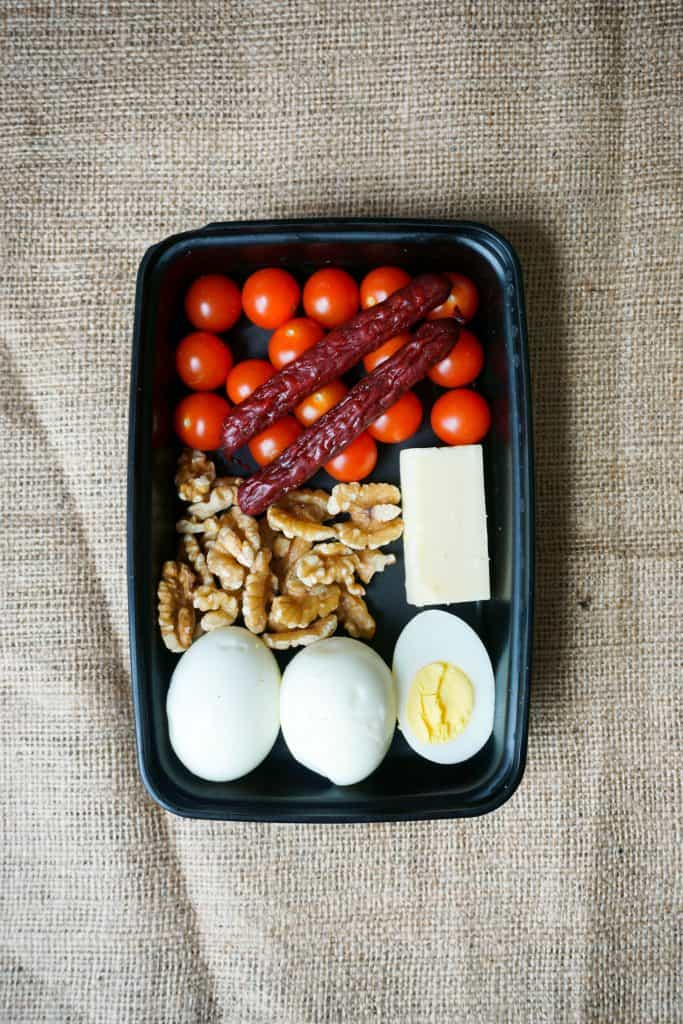 This keto snack box is one of our many low carb meals that can be made from walmart! They can be used as meal prep, and stuck in the fridge for later in the week!