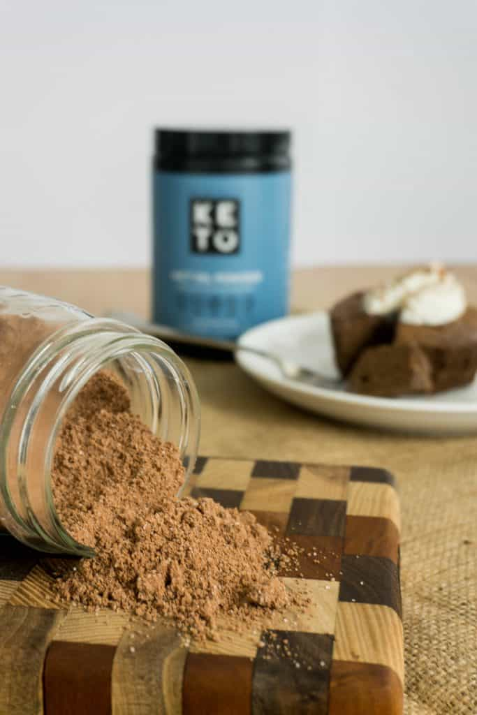 Using Perfect Keto MCT Oil Powder you can also have a delicious chocolate mug cake mix on hand at all times!