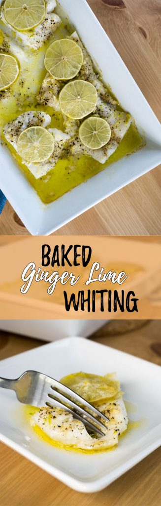 This keto oven baked fish recipe uses filets of hearty whiting with a ginger lime topping for a fresh take on weekly dinners at home!