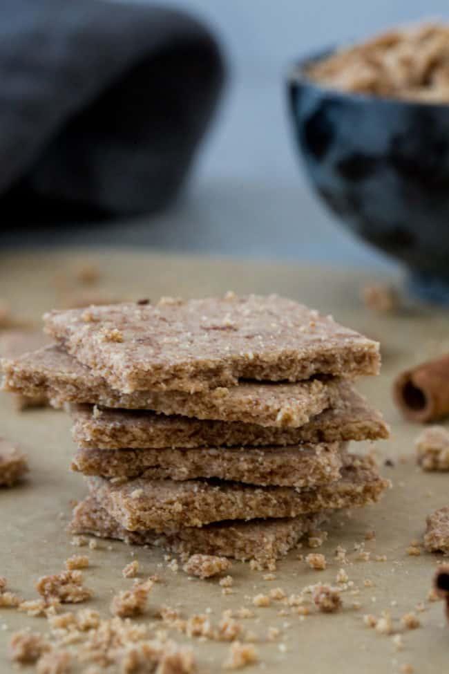 stack of keto graham crackers
