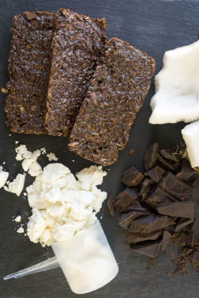 keto bars overhead close