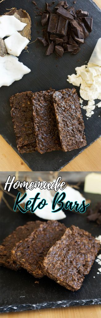 An easy to make high fat keto bar using a delicious mixture of chocolate and coconut!