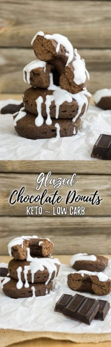 Our keto chocolate glaze low carb donuts are flourless, moist to the bite and great for on the go!