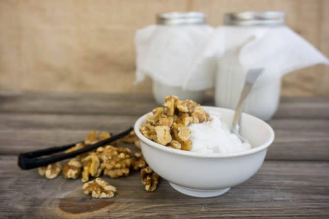 Now you can enjoy yogurt on a keto diet with our Low Carb Yogurt recipe! Pair it with nuts or berries for a low carb snack!