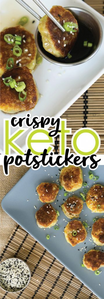 Our keto-friendly Gluten Free Potstickers turn your favorite Asian take-out night into a fun homemade, low carb, delicious dinner!