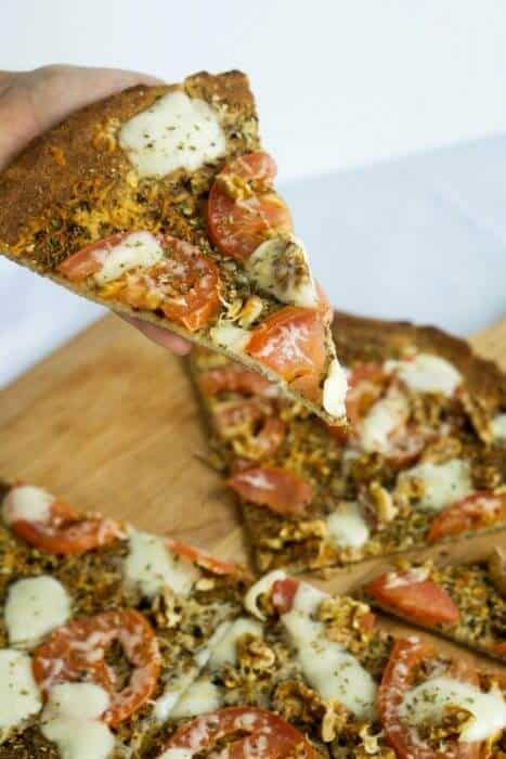 Relive your pre-keto pizza days, guilt-free, with this low carb pizza crust recipe!
