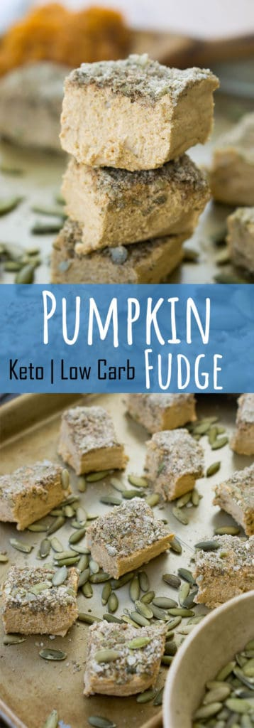Our keto no bake, easy pumpkin fudge is the perfect low carb, indulgent way to treat yourself this holiday season!