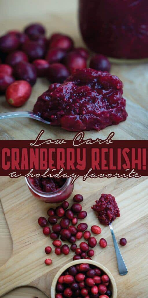 Our Healthy Cranberry Sauce is the perfect low carb side to serve at the holidays this year!