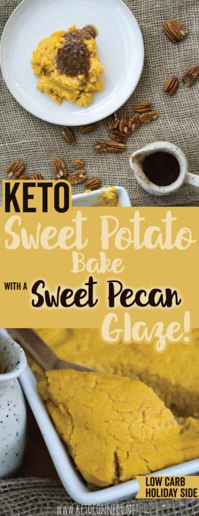 Our Healthy Sweet Potato casserole is the perfect, low carb, keto side dish to serve this year at Thanksgiving and you won't even know the difference!