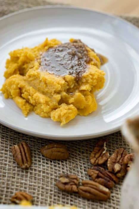 One of our keto christmas casseroles is sweet potato casserole. It is easy, savory, and perfect for any holiday feast!