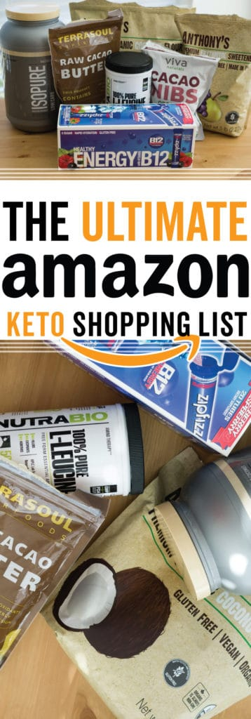 Every item on our amazon keto shopping list!