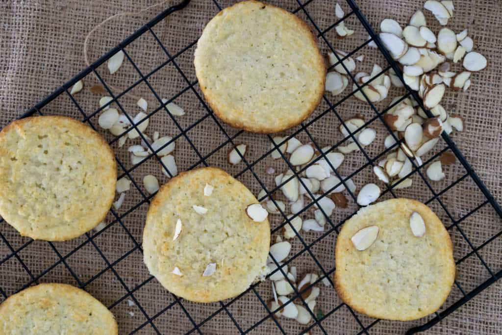Our low carb Almond Ricotta Cookies are soft and perfect for a post dinner treat!