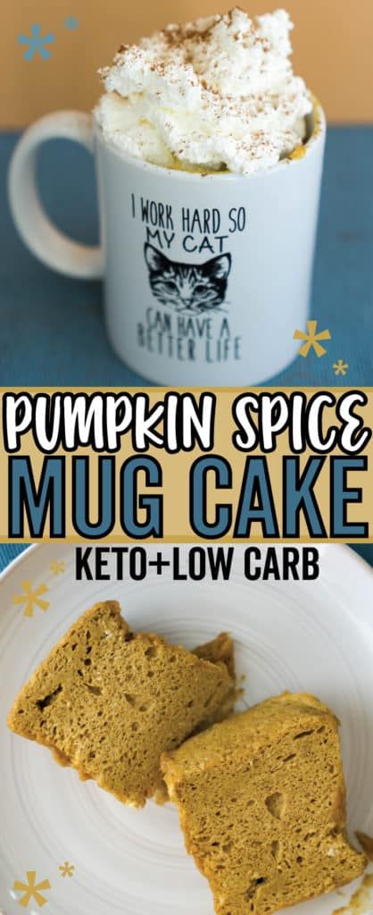 Our Pumpkin Mug Cake is low in carbs and high in festive flavor, perfect for a night cap any day of the week!
