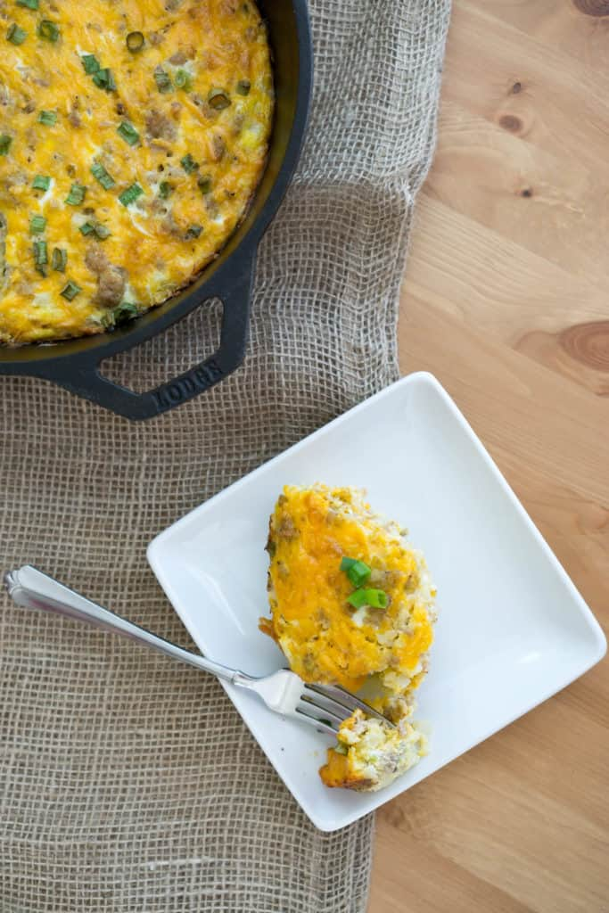 Our double layer Keto Breakfast Casserole is the perfect way to start your day and stay satisfied to power through your work day!