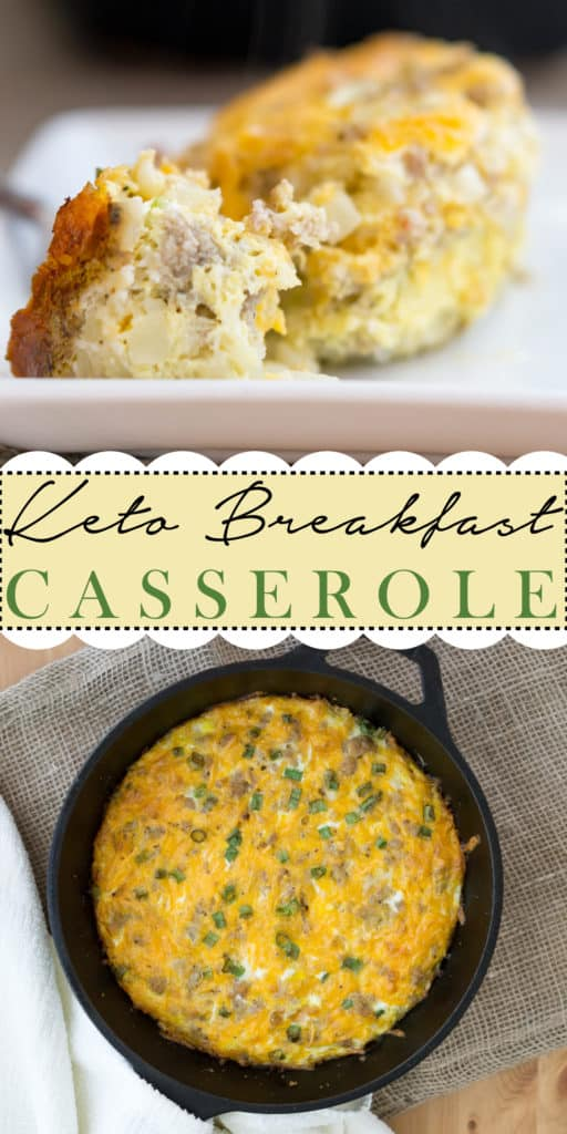 Keto Breakfast Casserole Sausage Cauliflower And Cheese Ketoconnect