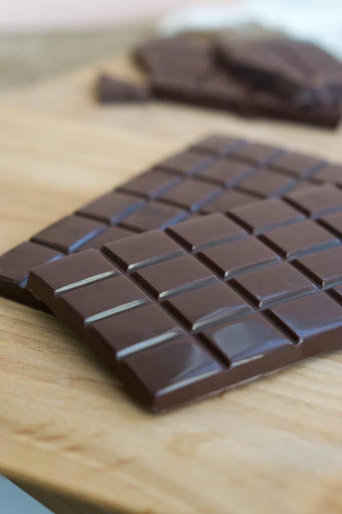 keto chocolate bar close