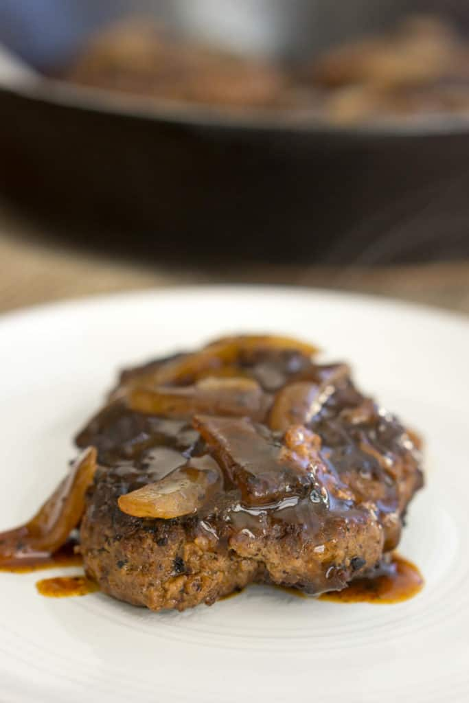 This Keto Salisbury Steak is the perfect combination of hearty meat and rich gravy making it the perfect, low carb weeknight dinner!