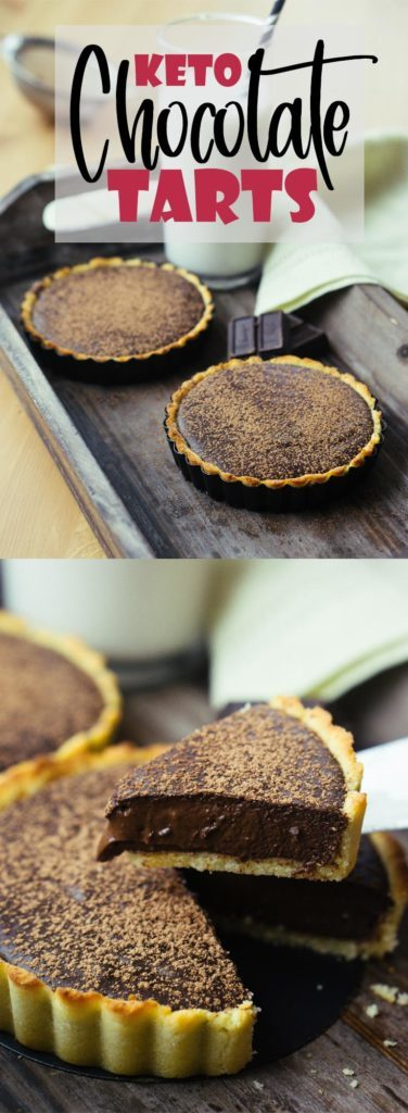 This low carb dark chocolate tart is made with a few simple ingredients to achieve a rich and indulgent, keto friendly dessert!