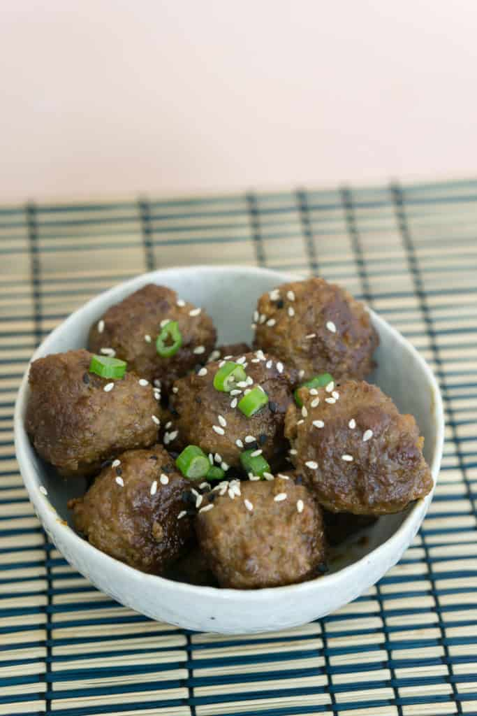 Our Low Carb Korean Meatballs make for a perfectly tender and flavorful keto friendly appetizer!