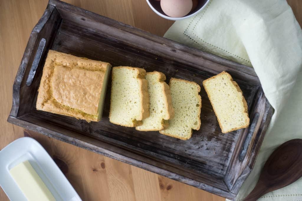 best keto bread overhead
