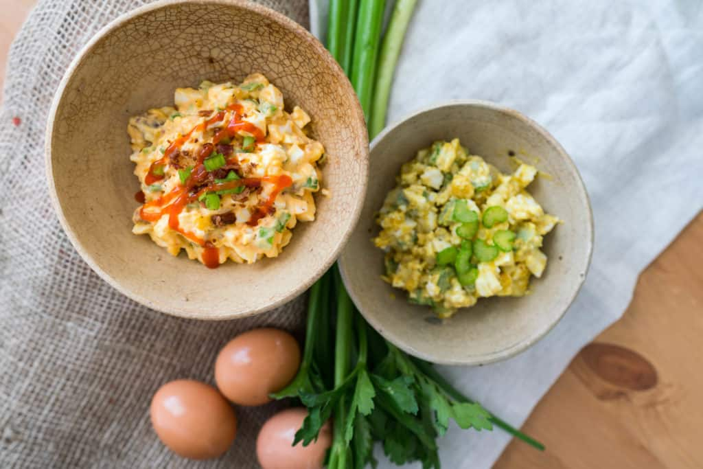 healthy egg salad two ways ketoconnect
