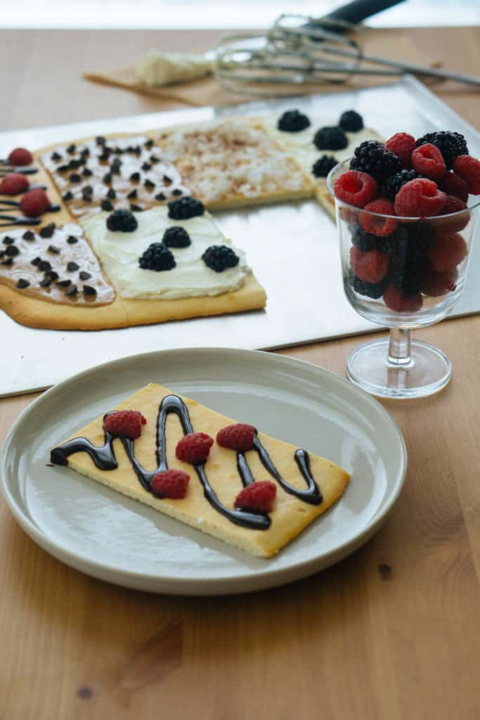 This Keto Dessert Pizza is a perfect, low carb dessert for people who need something sweet.