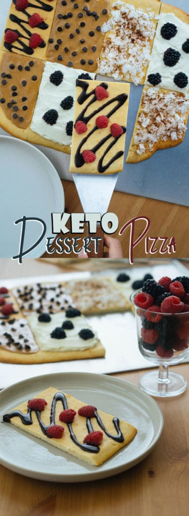 This Dessert Pizza Recipe is low carb, high flavor and will take you back to your cookie cake eating days!