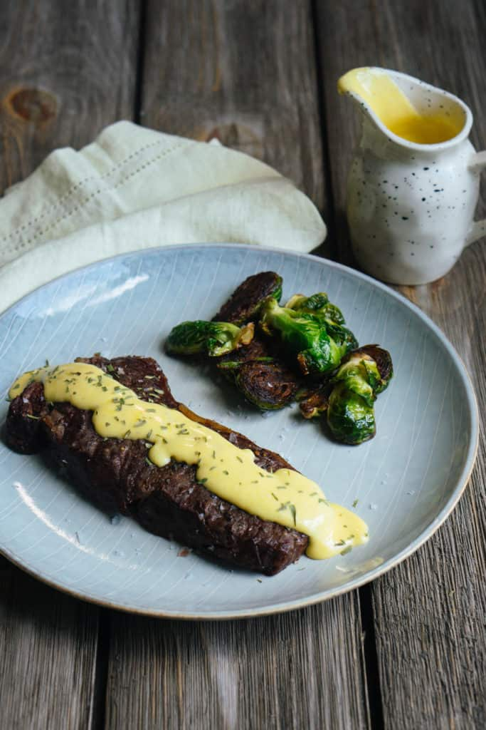 This easy bernaise recipe is the perfect topping for meats and veggies to give you a creamy, delicious balance!
