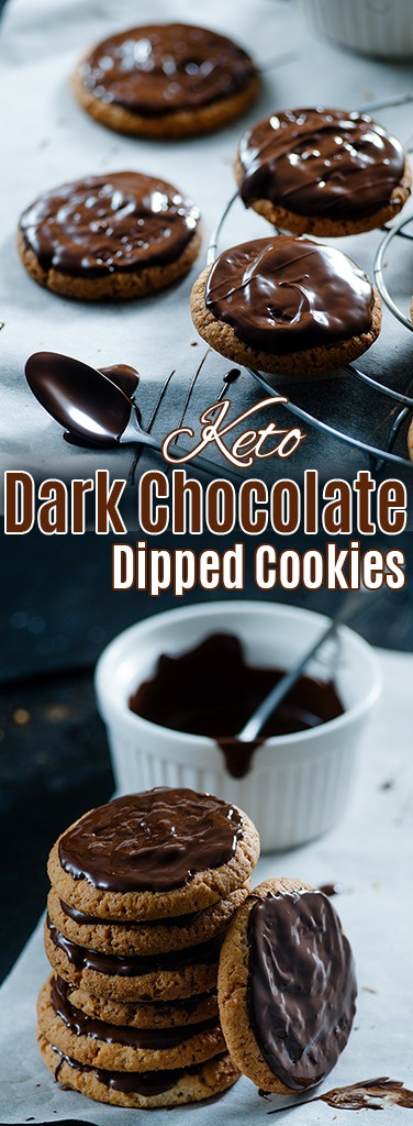 These Dark Chocolate Dipped Cookies will feed your cravings without messing up your diet!