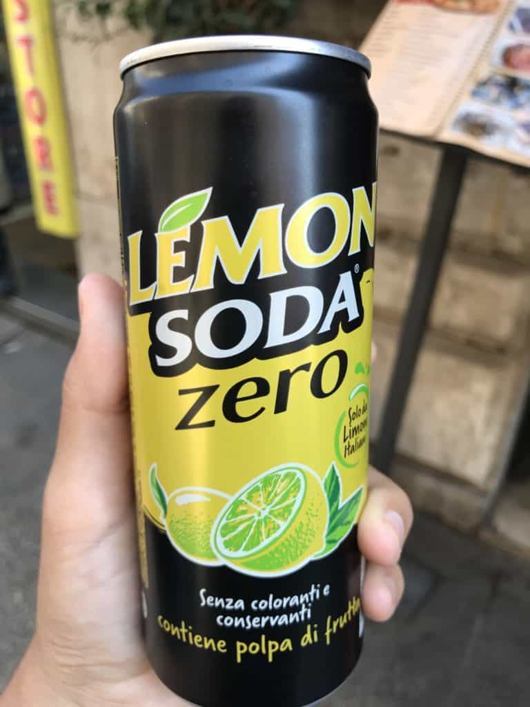 We looked all over for zero calorie drinks while in rome. We found this lemon soda zero at a store called coop! Perfect for keto!