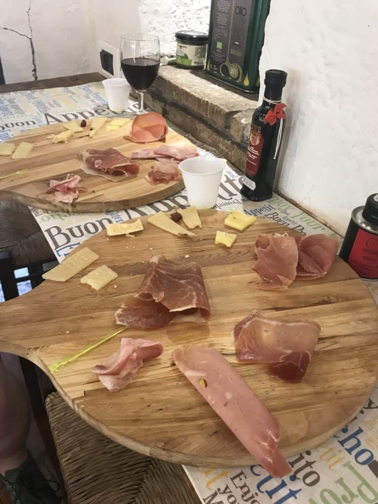 We used the experience section of the airbnb app to find a great tasting experience which had tasty cheeses and meats!