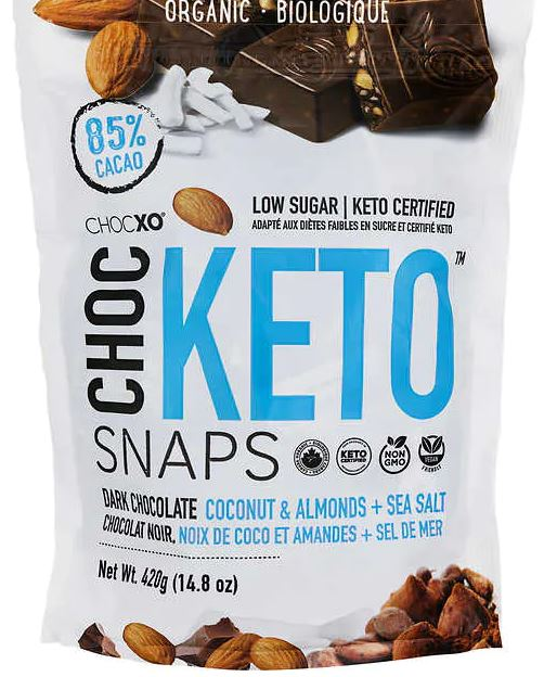chocxo keto snaps package from costco