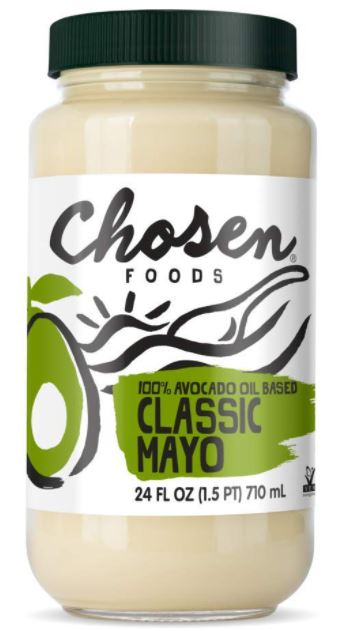 chosen foods mayo made with 100% avocado oil