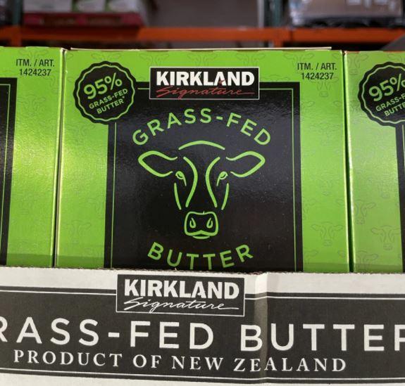 costco kirkland brand grass fed butter