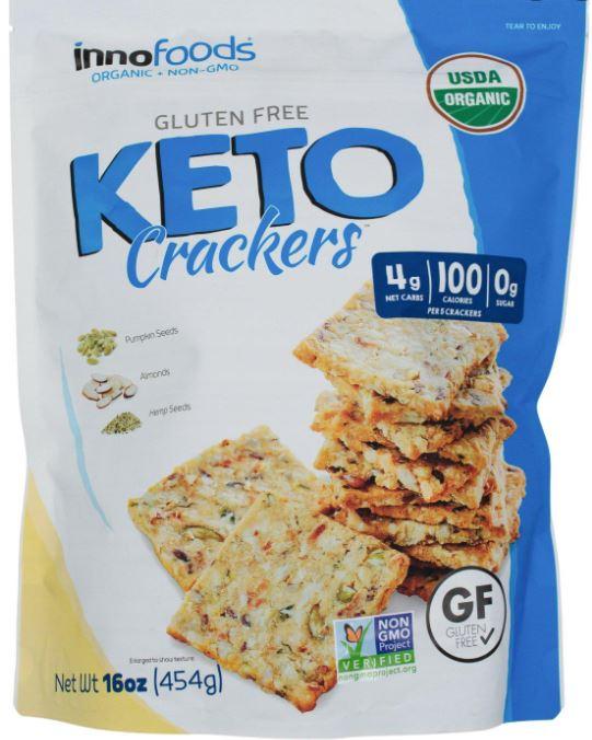inno foods keto crackers packaging