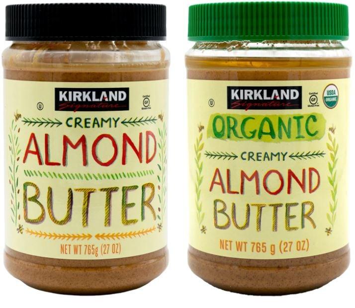 kirkland signature almond butter options