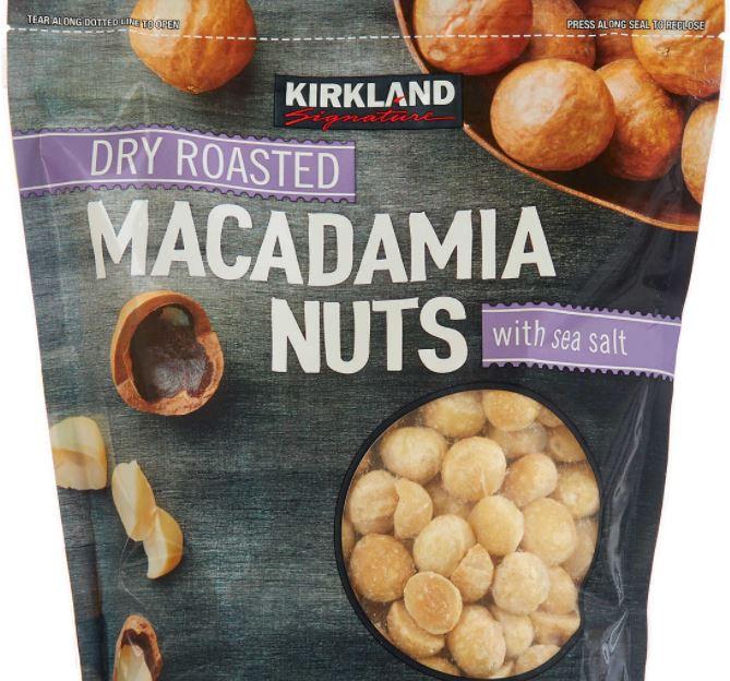 kirkland brand macadamia nuts large bag