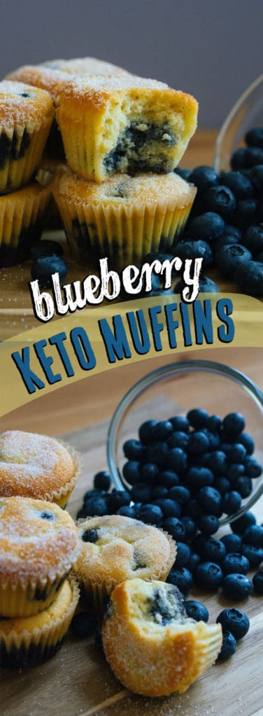 These Low Carb Muffins use fresh blueberries and are the perfect keto grab and go snack!