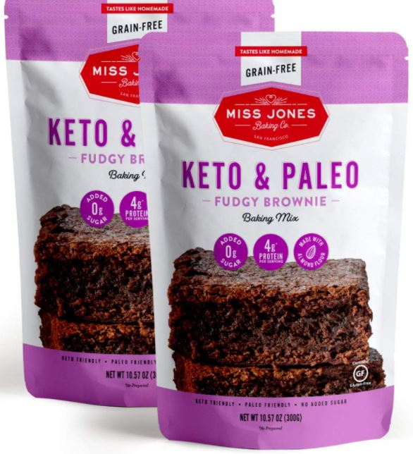 miss jones ket and paleo brownie mix two pack