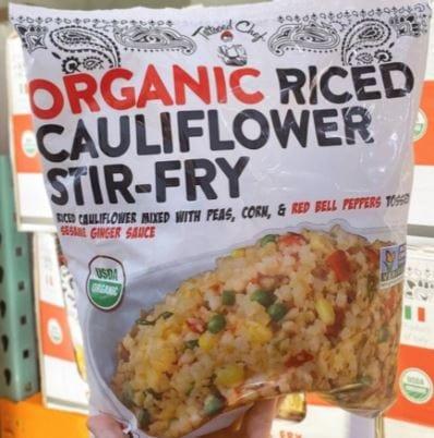organic riced cauliflower stir-fry from costco