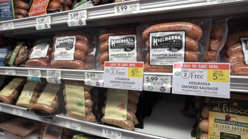 Publix has a lot of our favorite sausage brands. These sausages have are very high quality and perfect for any quick and easy keto lunches!
