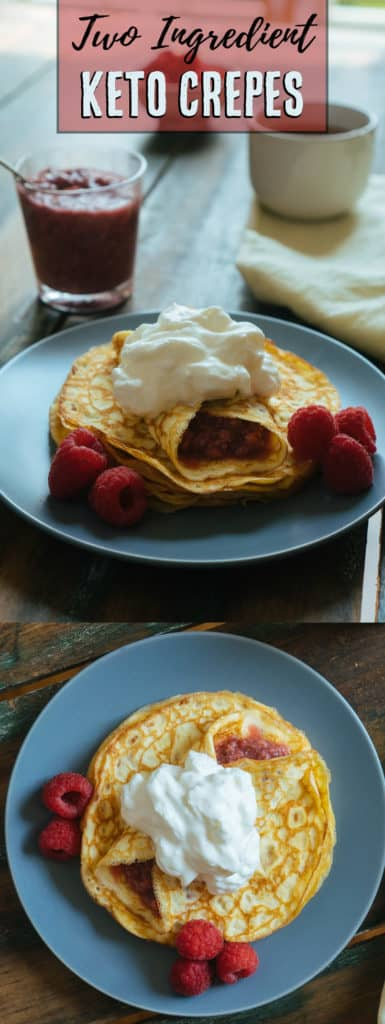 Our Keto Crepes take two simple, low carb ingredients to make and can be filled with any filling of your choosing!