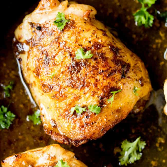 One Pan Chicken Thighs