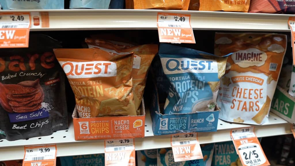 Low-carb chips are the perfect snack on keto! They are a salty, crunchy, snack to eat during a movie or after a few drinks! Sprouts carries quest chips which are what we recommend!
