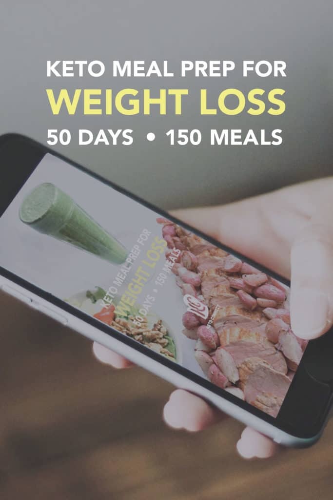 a mobile phone using the keto meal prep for weight loss program to have a meal plan on the go