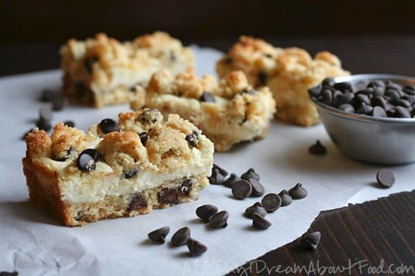 This keto recipe is a chocolate chip cookie mashes together two delicious desserts, cheesecake and cookies, to create a rich flavor!