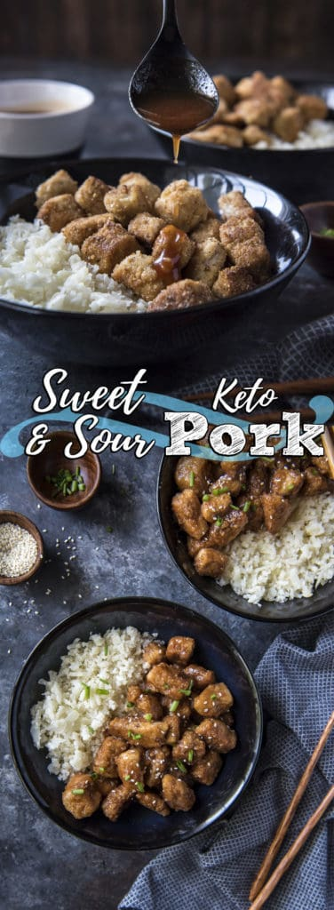 This Easy Sweet And Sour keto Pork is the perfect way to bring back Chinese food in a healthy, keto-friendly way!