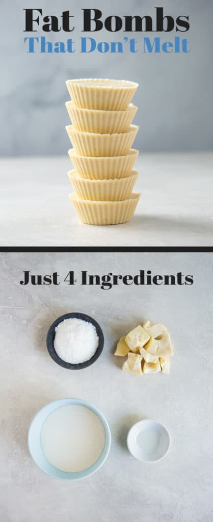 The Best Keto Fat Bombs are shelf stable, delicious and simple to make for the perfect on the go snack! These fat bombs only have four ingredients!